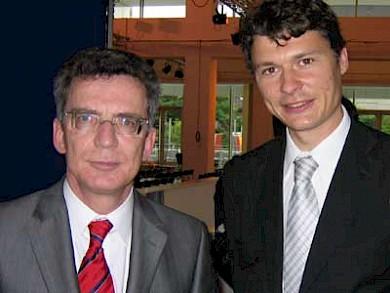 Kanzleramtschef Dr. Thomas de Maizière und CDU-Vorsitzender Dr. Jörg Geerlings