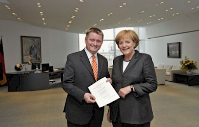 Hermann Gröhe und Bundeskanzlerin Angela Merkel. Foto: Bundespresseamt