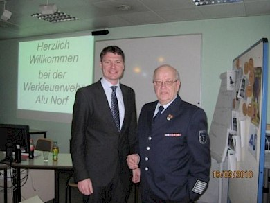 Dr. Jörg Geerlings (L), Gotthard Schnitzler