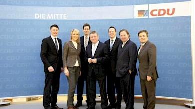 Junge Gruppe bei CDU-Generalsekretär Hermann Gröhe