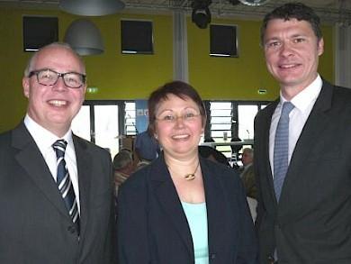 v.l.: Sven Gösmann, Elisabeth Heyers, Dr. Jörg Geerlings
