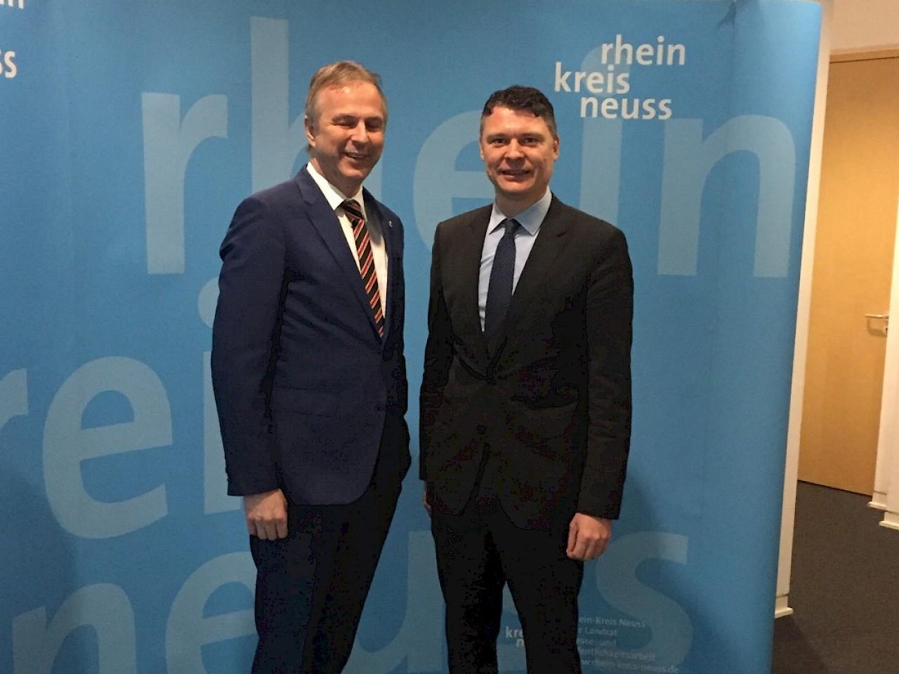 Gedankenaustausch mit Kreisdirektor Dirk Brügge