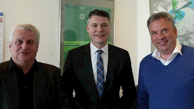 vlnr: Klaus Becker, Dr. Jörg Geerlings, Gösta Müller
