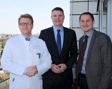 vlnr: Prof. Dr. Jan Sebesky, Dr. Jörg Geerlings, Paul Kudlich