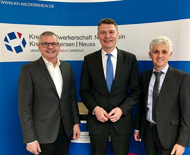 vlnr: Rolf Meuter, Dr. Jörg Geerlings, Paul Neukirchen