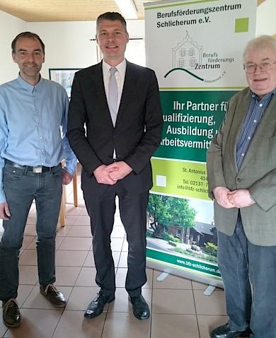 vlnr Michael Stork, Dr. Jörg Geerlings, Herbert Bremer