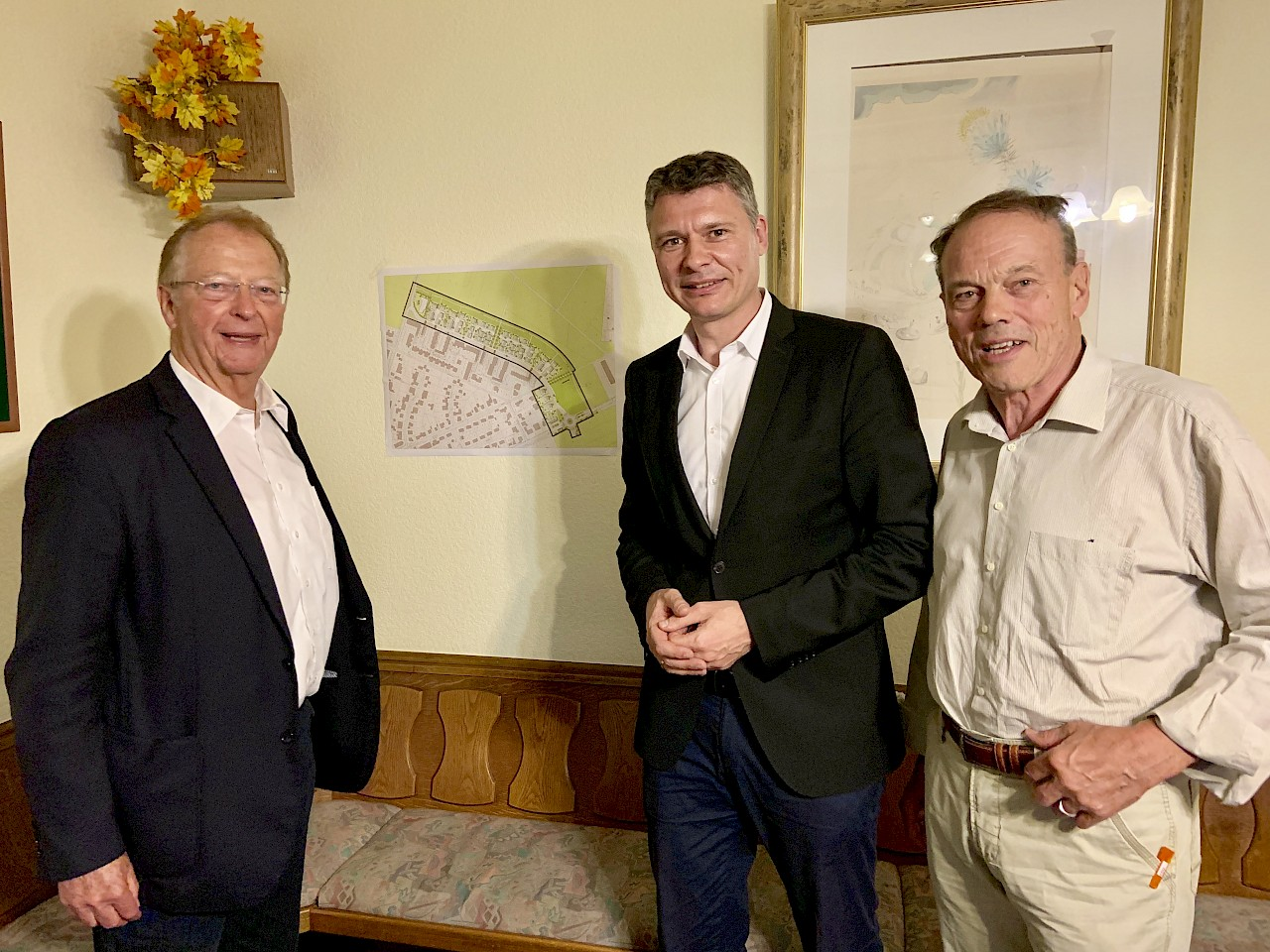 Stadtverordneter Karl Heinz Baum, Dr. Jörg Geerlings MdL und Kreistagsabgeordneter Volker Bäumken