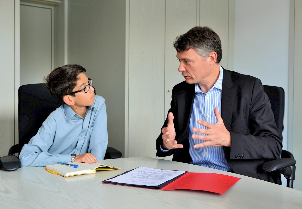 Schülerpraktikant im Landtag