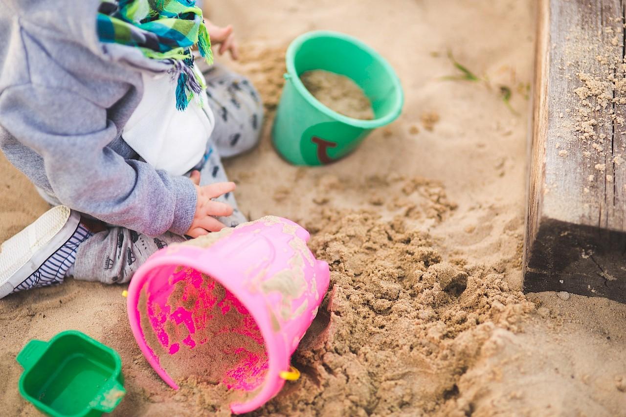 Sauberer Sand für Spielplätze