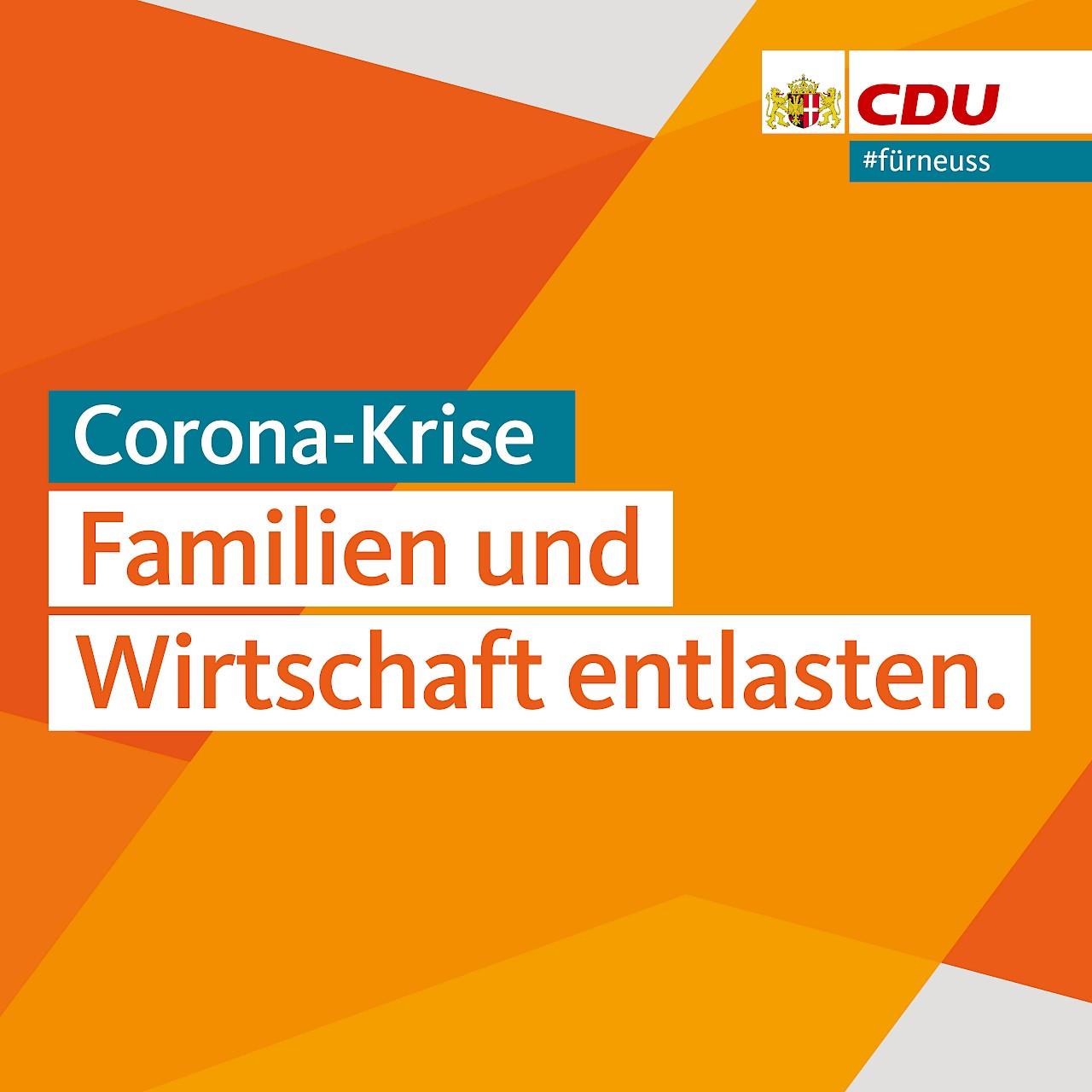 Corona-Krise: Familien und Wirtschaft entlasten
